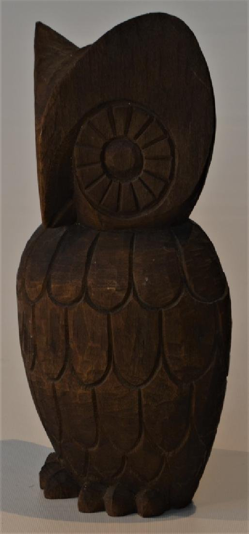 1960s Hand Carved Owl Signed - 4