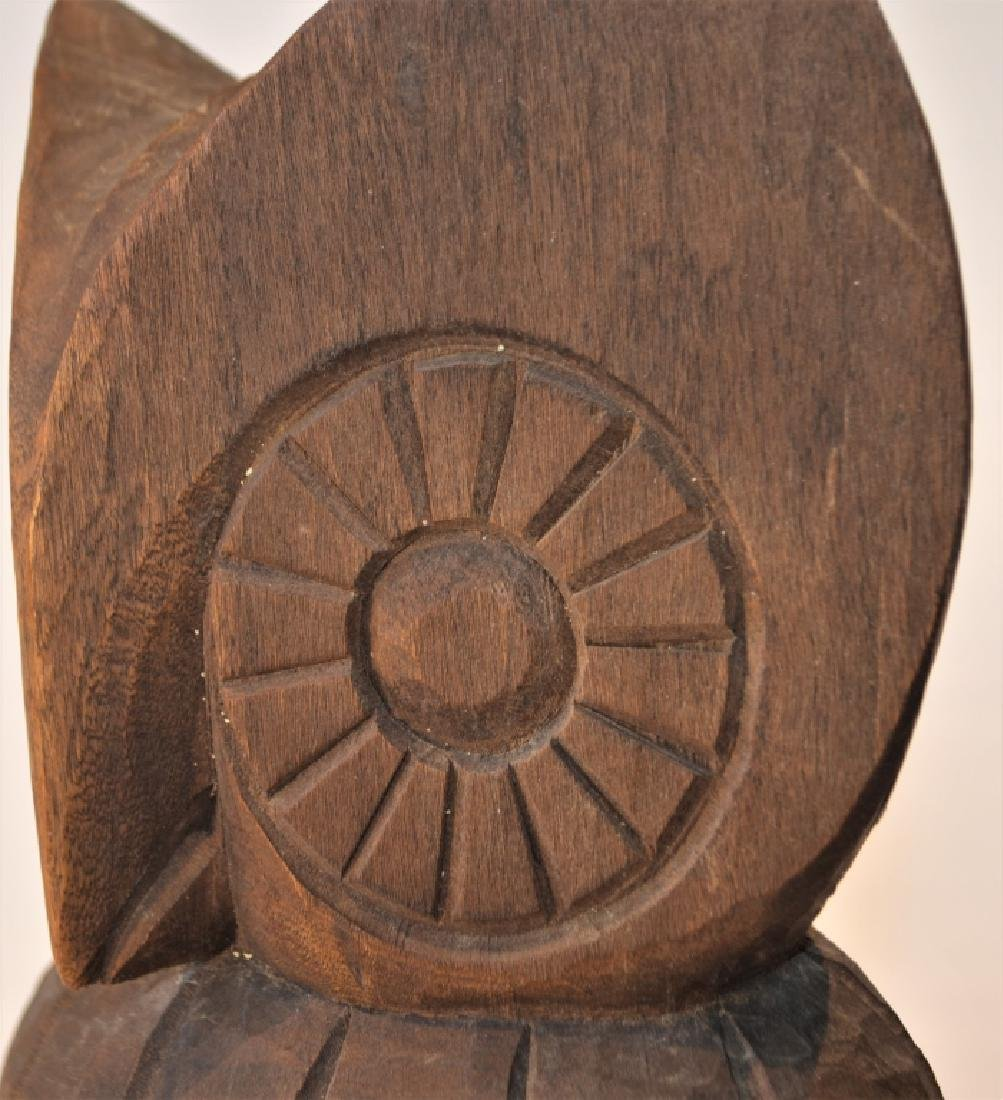 1960s Hand Carved Owl Signed - 5