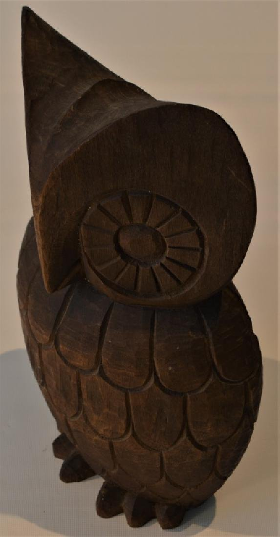 1960s Hand Carved Owl Signed - 6
