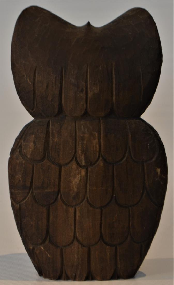 1960s Hand Carved Owl Signed - 7