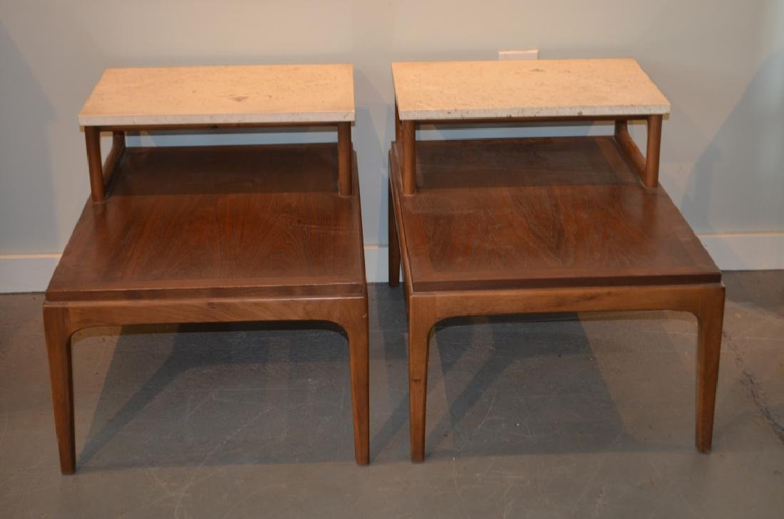 Pair of Marble Top Lane Side Tables