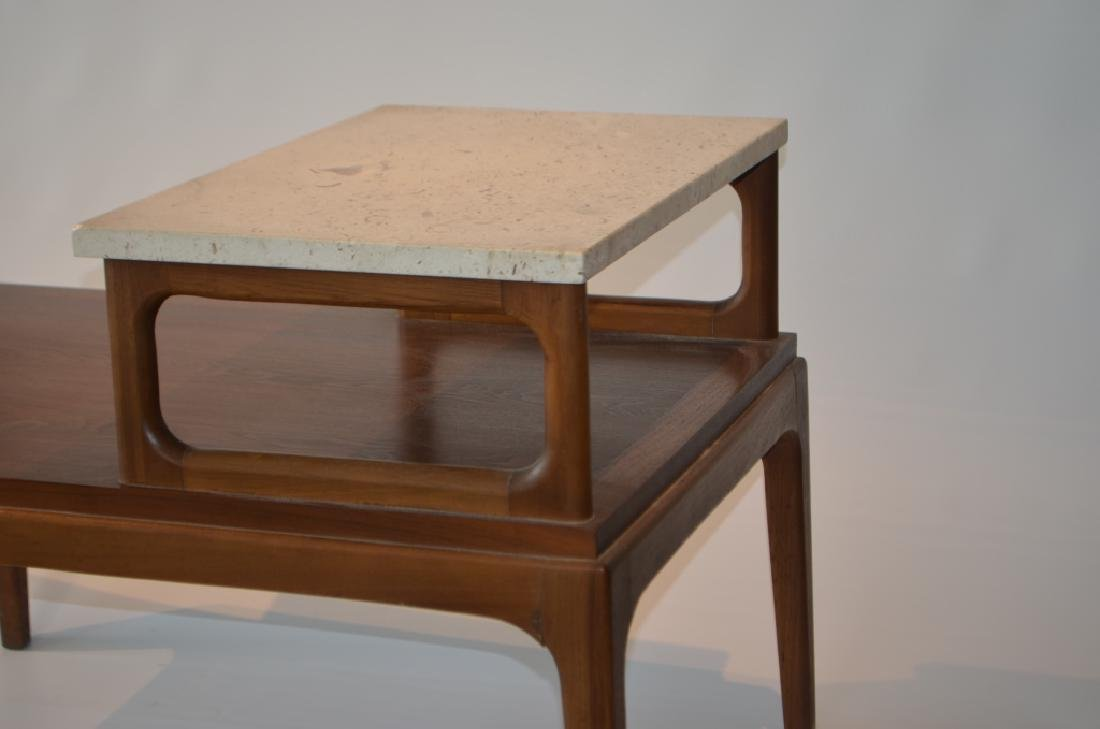 Pair of Marble Top Lane Side Tables - 3