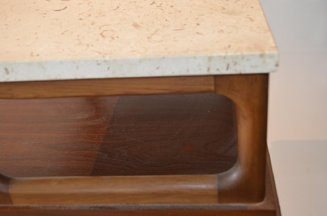 Pair of Marble Top Lane Side Tables - 4