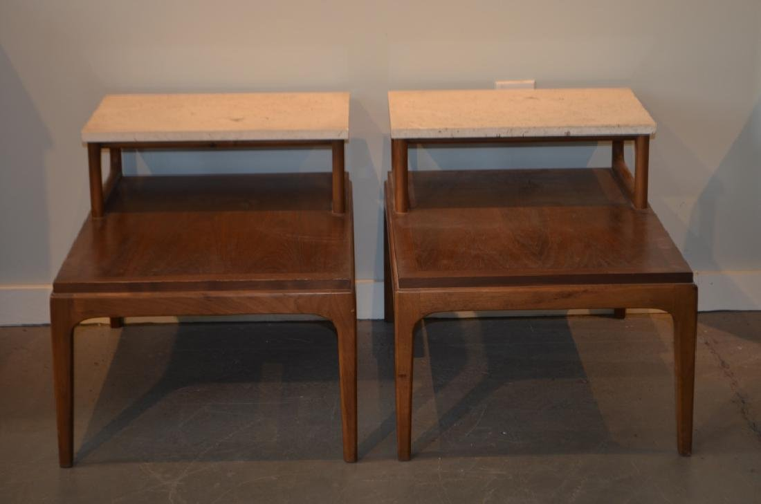 Pair of Marble Top Lane Side Tables - 9