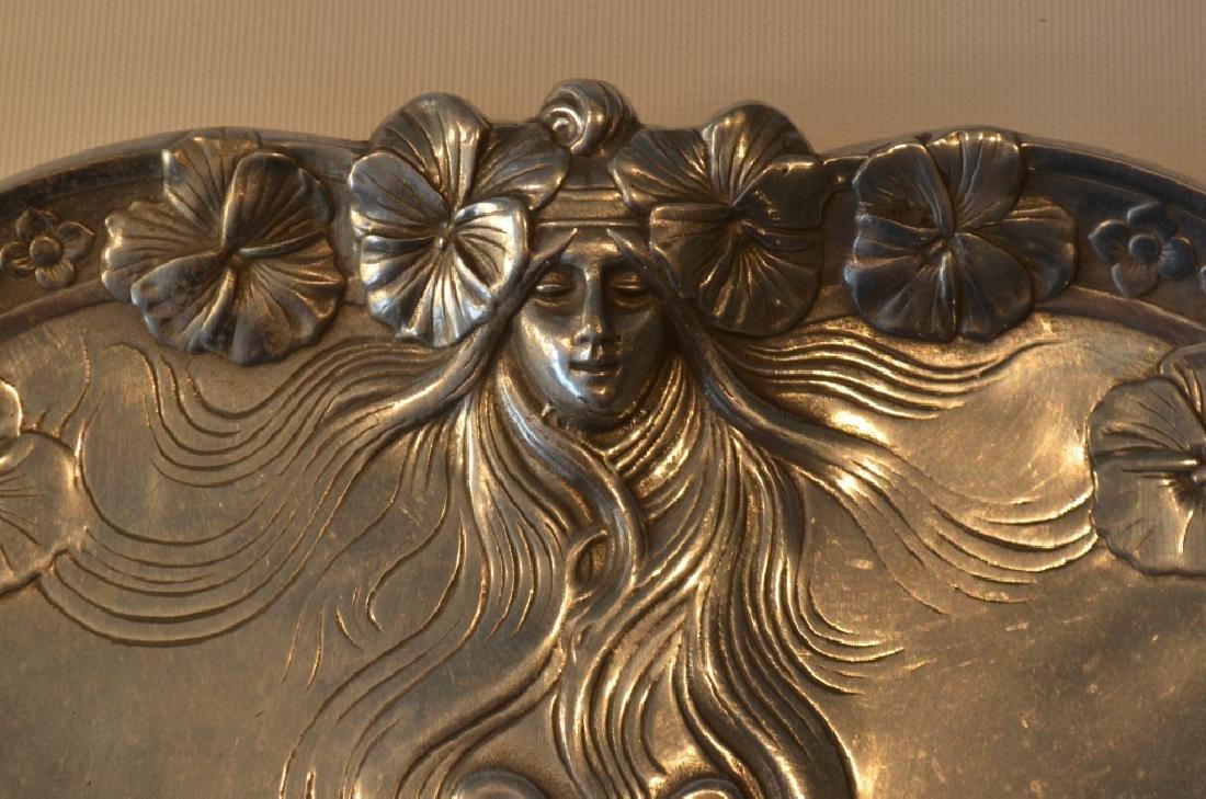 Art Nouveau Chrome Tray by Mann - 3