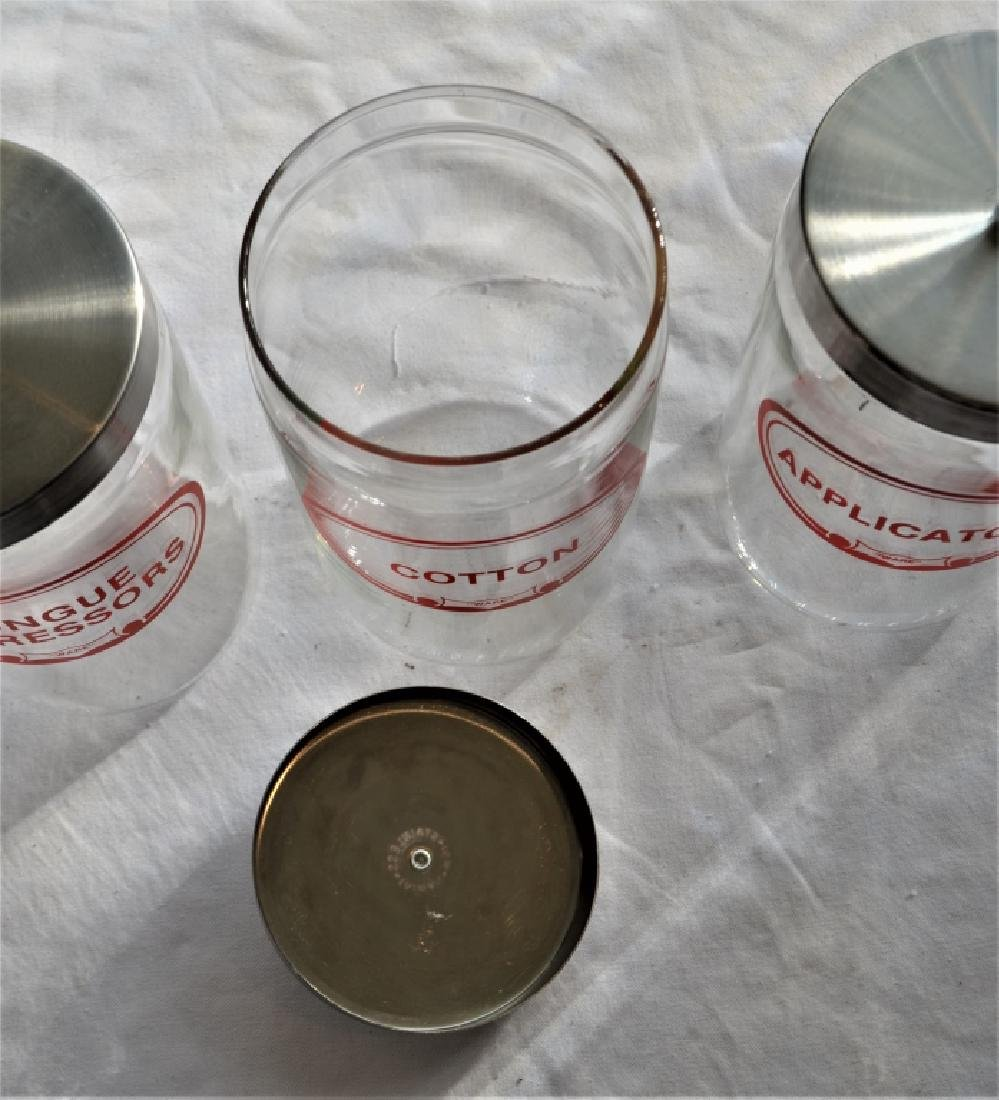 Set of Five Mid Century Medical Jars - 7