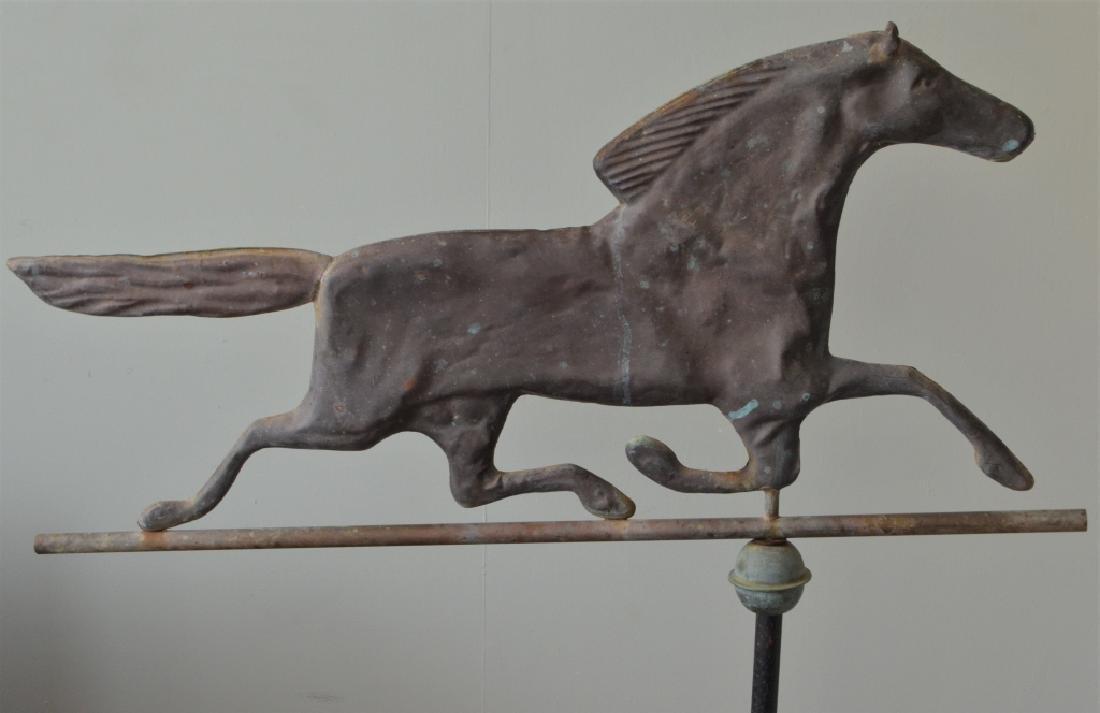 Antique Copper Horse Weathervane - 3