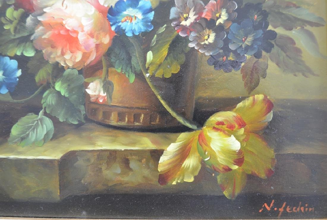 Signed Floral Paintings Lot of 2