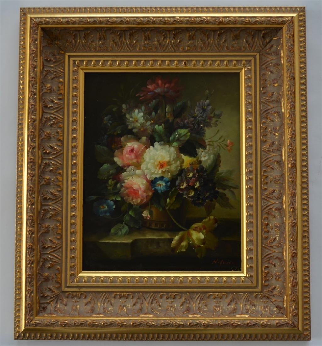 Signed Floral Paintings Lot of 2 - 9
