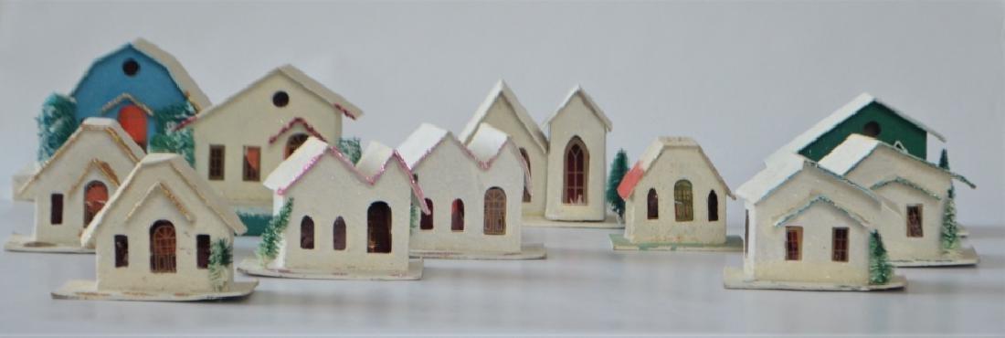 1920s Cardboard Christmas Village