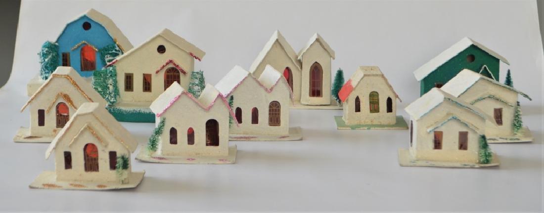 1920s Cardboard Christmas Village - 2