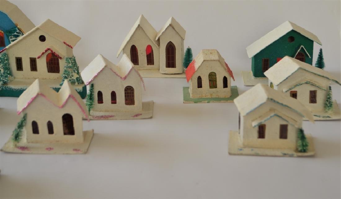 1920s Cardboard Christmas Village - 3