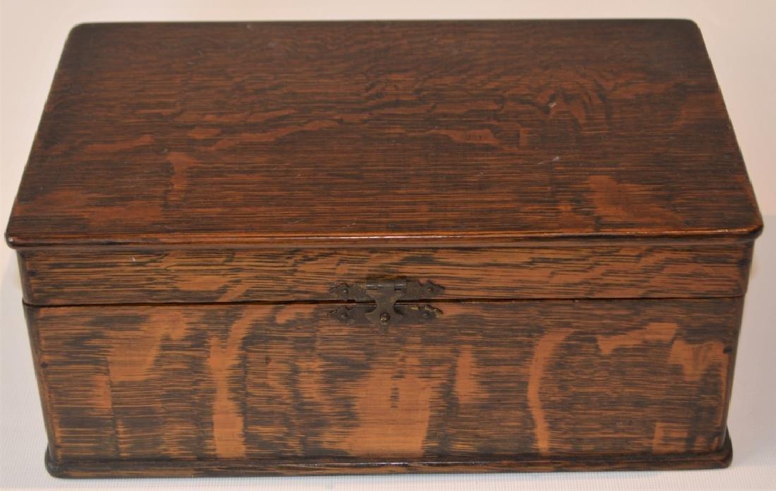Antique Quarter Sawn Oak Dresser Box