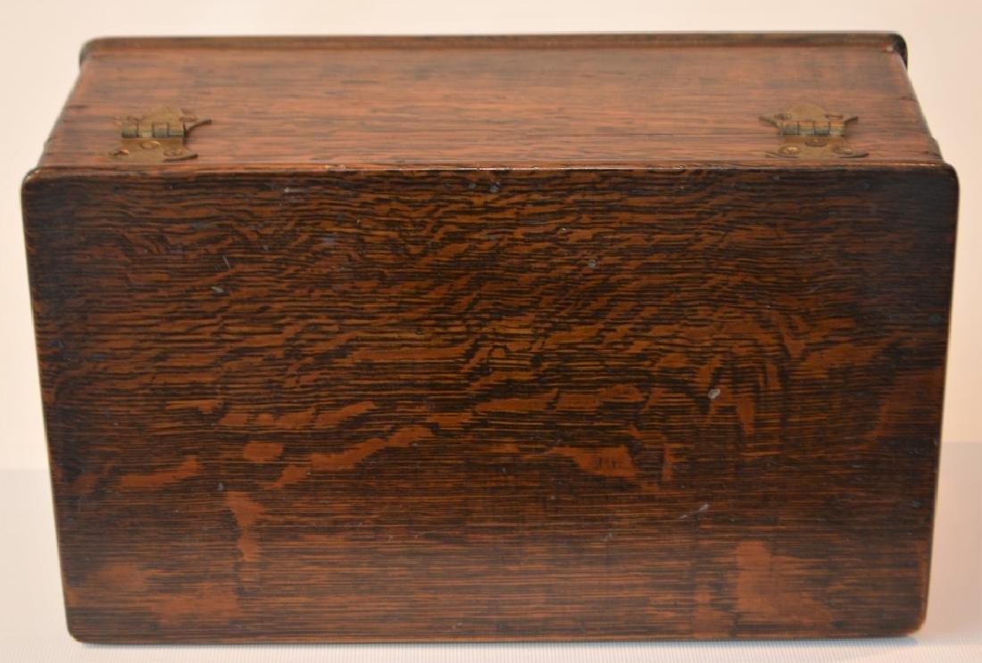 Antique Quarter Sawn Oak Dresser Box - 3