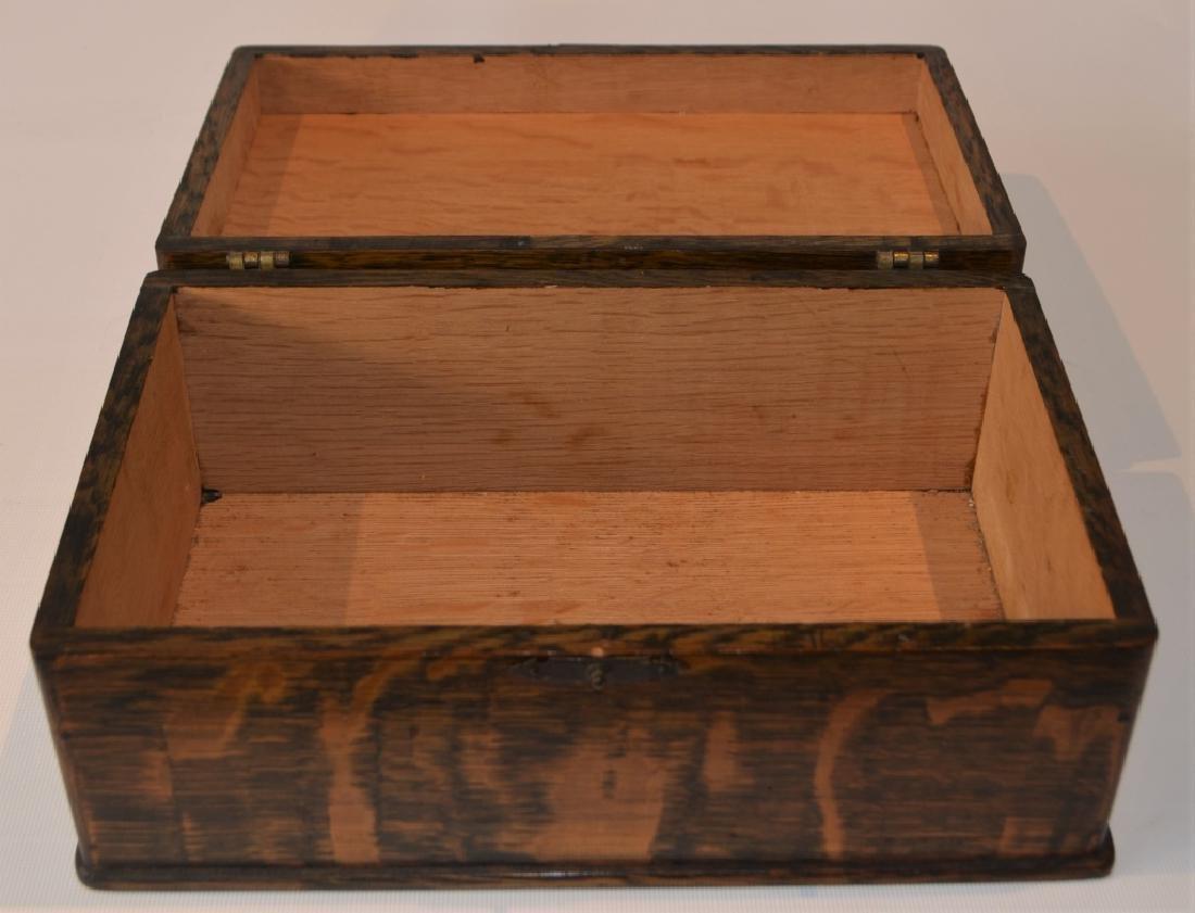 Antique Quarter Sawn Oak Dresser Box - 6