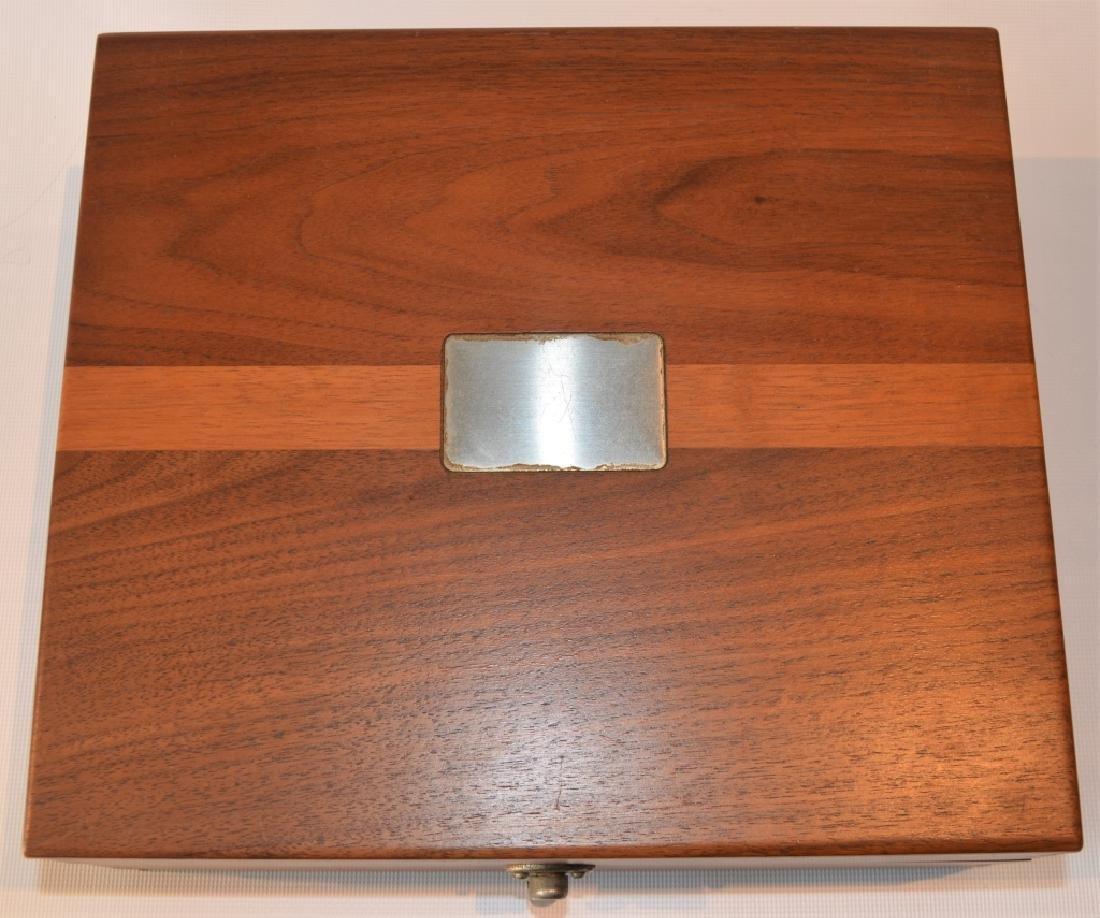 Oak Desktop Box with Presentation Plate - 3