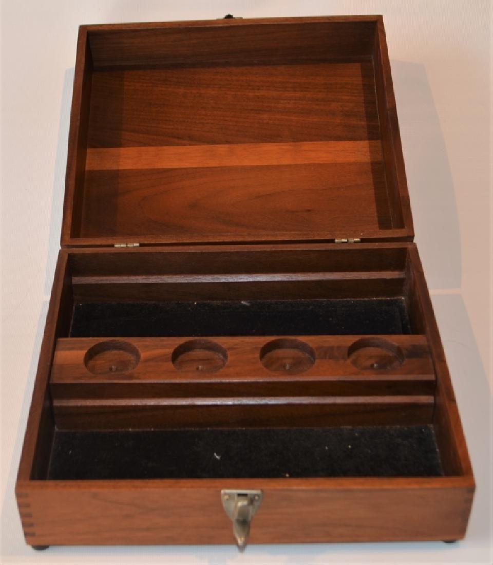 Oak Desktop Box with Presentation Plate - 4