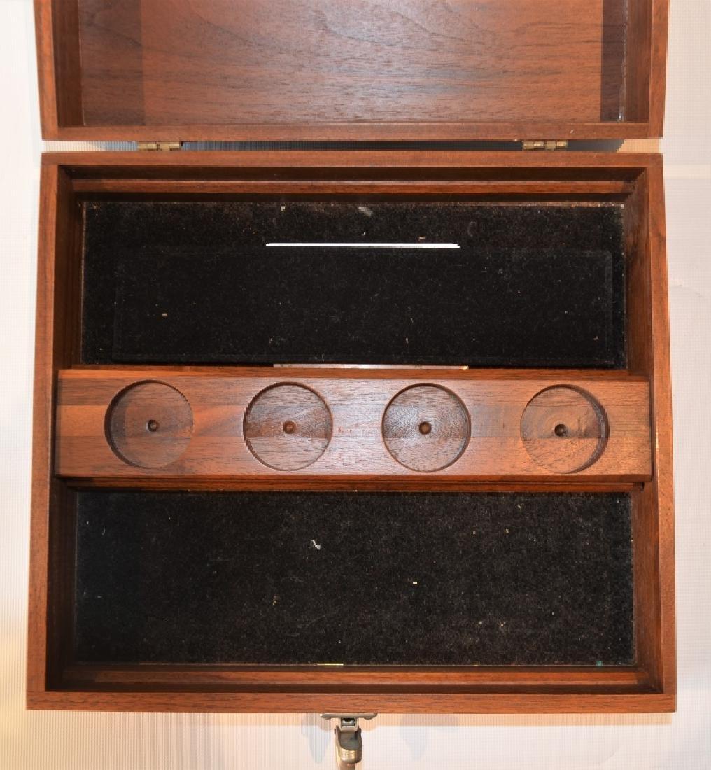Oak Desktop Box with Presentation Plate - 5