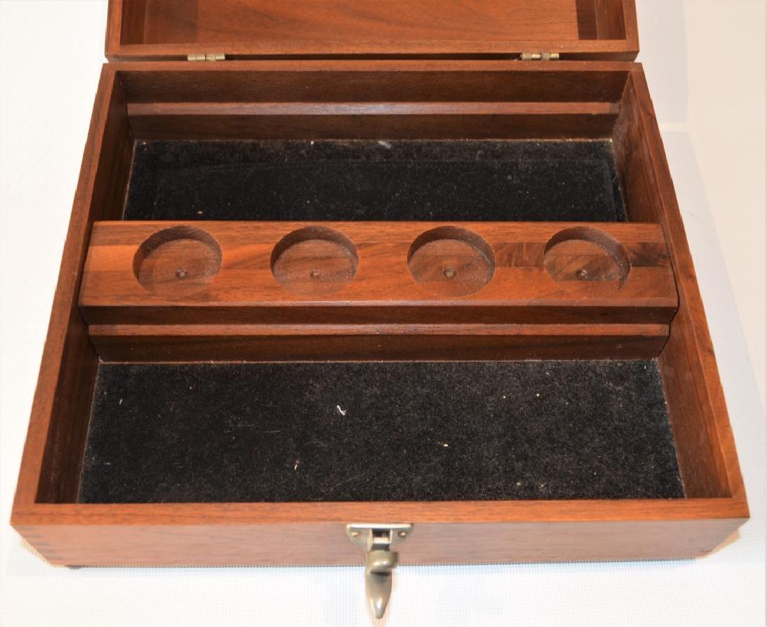 Oak Desktop Box with Presentation Plate - 6