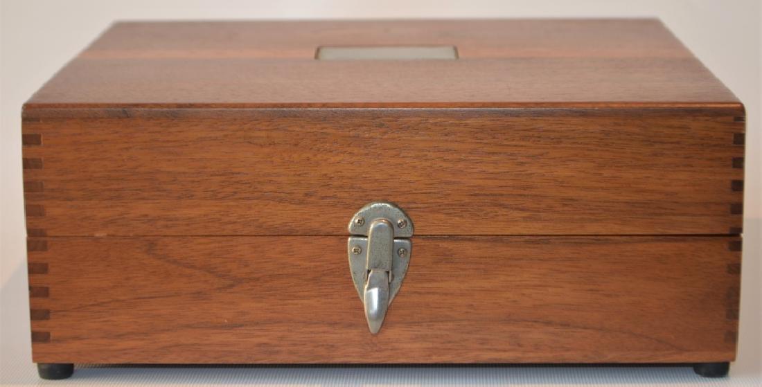 Oak Desktop Box with Presentation Plate - 7