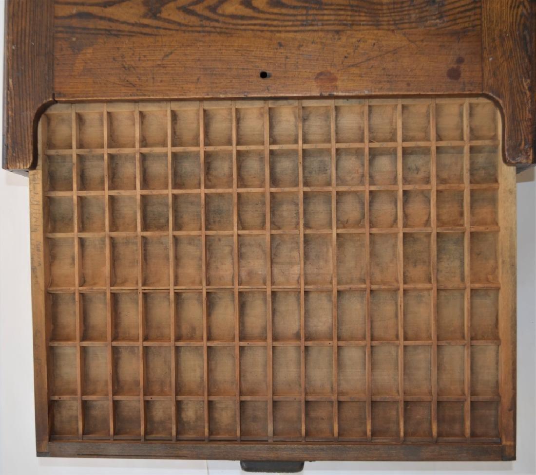 Early 1900s Type Case Oak Cabinet - 2