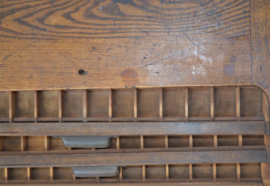 Early 1900s Type Case Oak Cabinet - 3