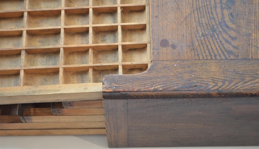 Early 1900s Type Case Oak Cabinet - 4