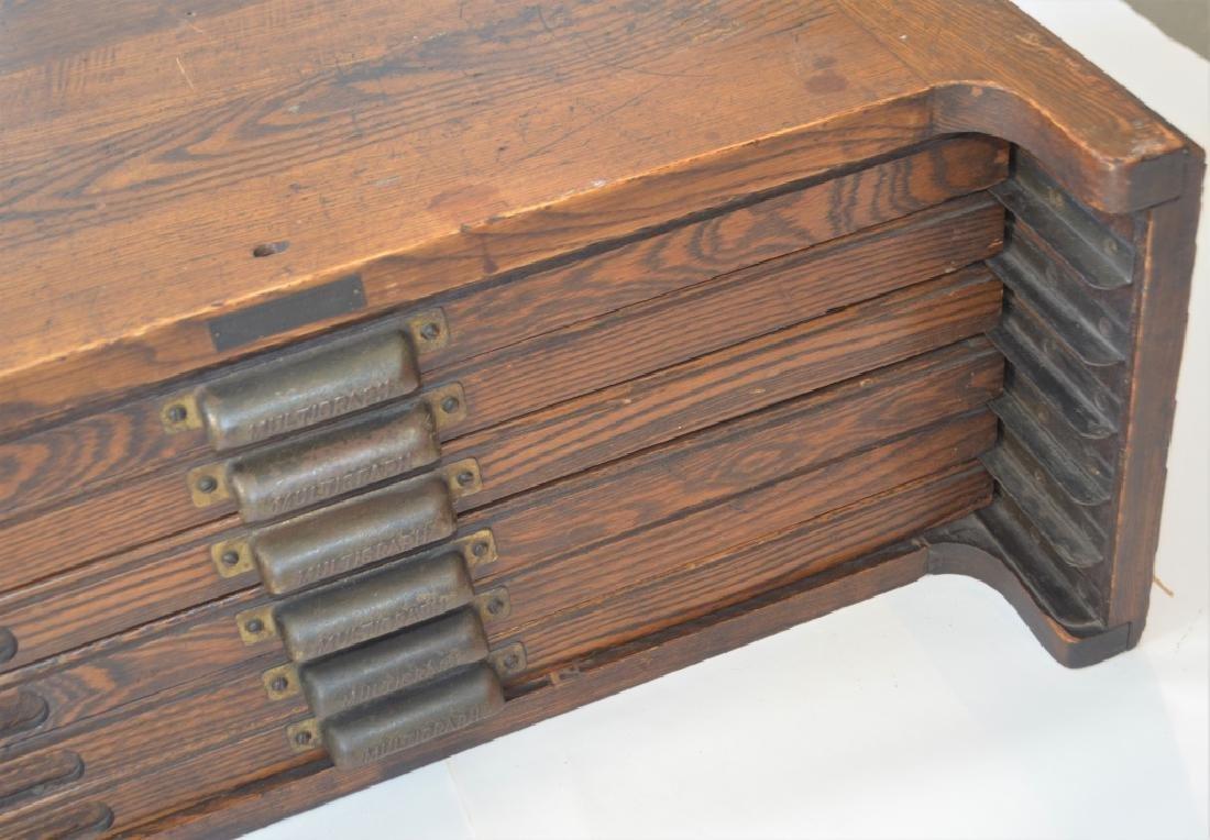 Early 1900s Type Case Oak Cabinet - 6