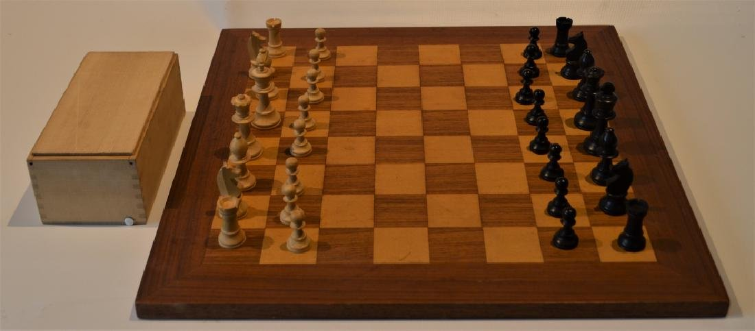 Wooden Chess Set and Board
