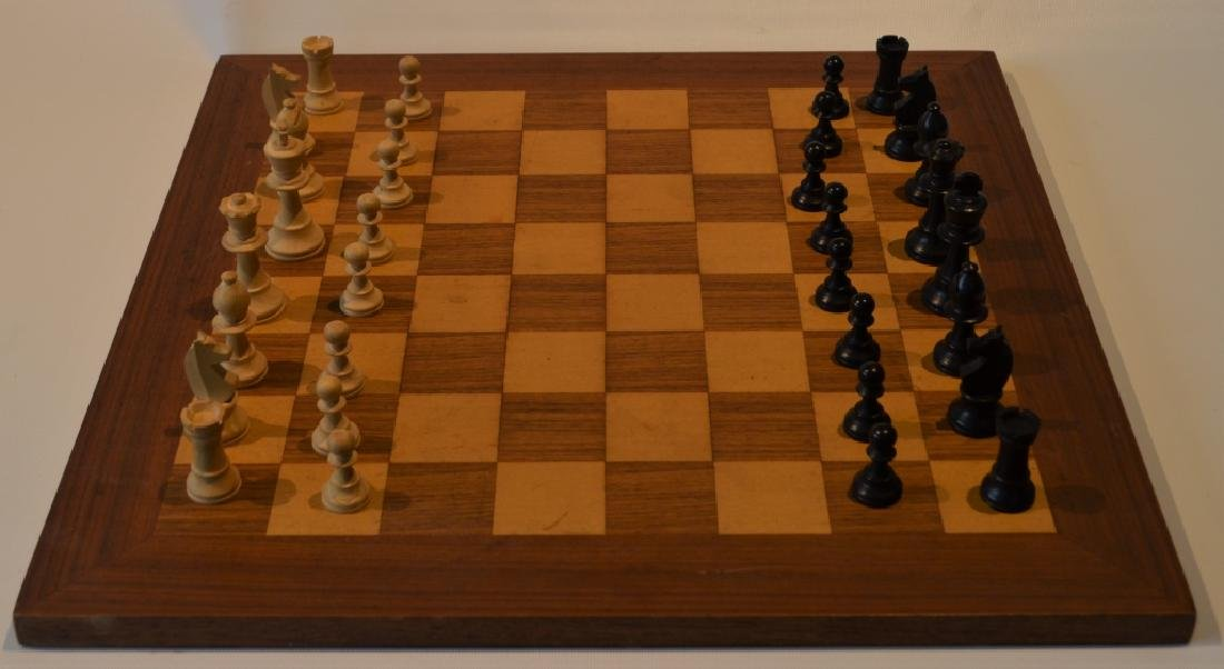 Wooden Chess Set and Board - 2