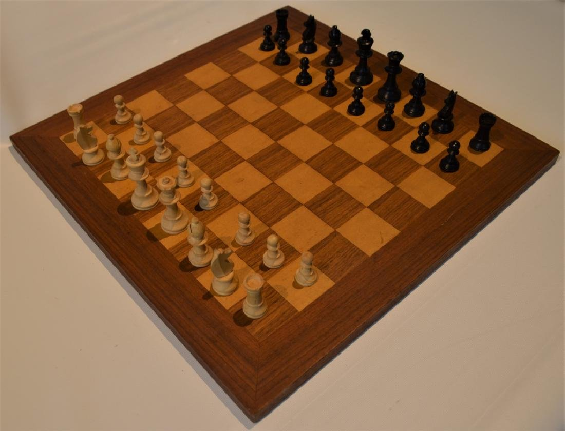 Wooden Chess Set and Board - 3