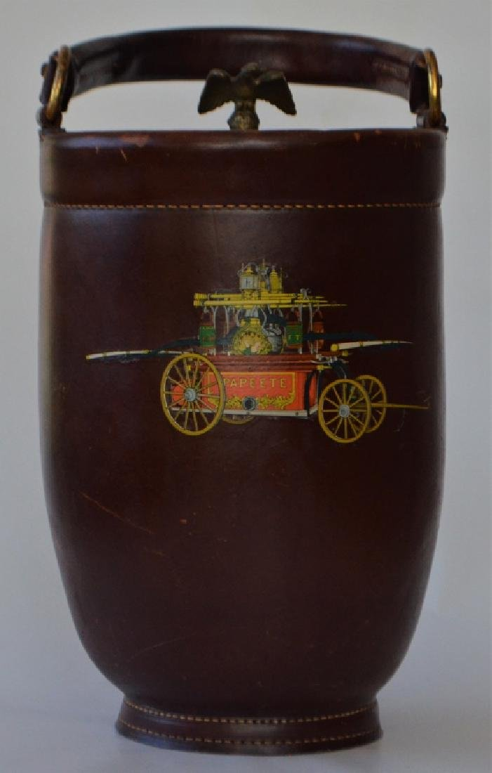 Vintage Cairns Brothers Leather Ice Bucket