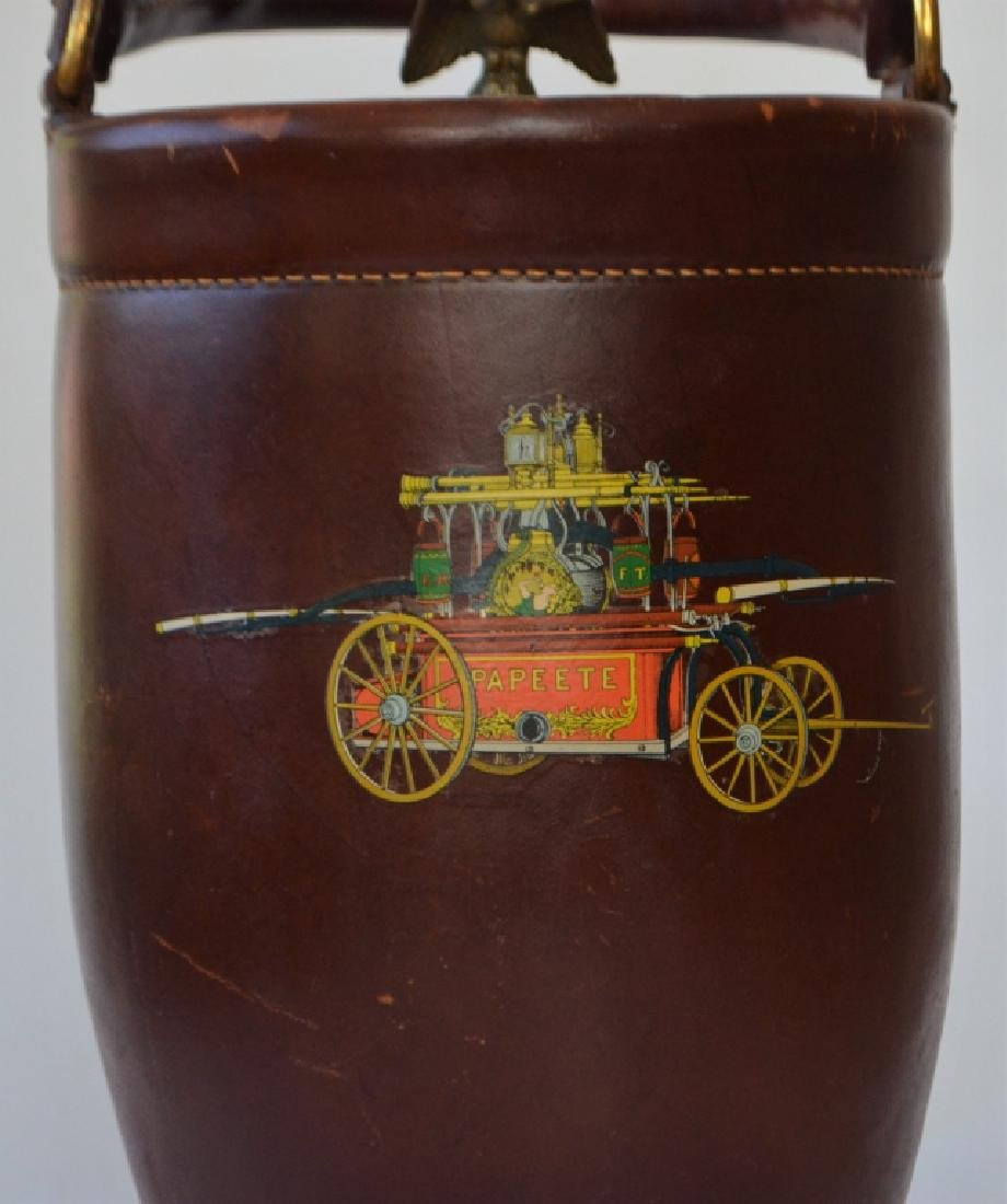 Vintage Cairns Brothers Leather Ice Bucket - 2
