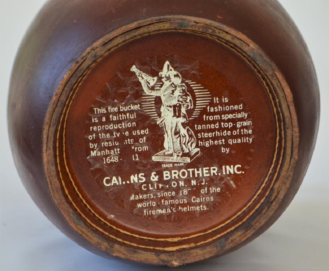 Vintage Cairns Brothers Leather Ice Bucket - 5