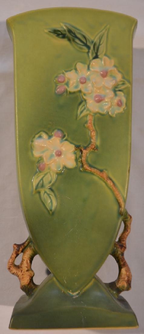 Roseville Apple Blossom Vase 390-12 - 2