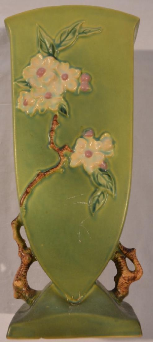 Roseville Apple Blossom Vase 390-12 - 5