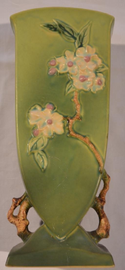 Roseville Apple Blossom Vase 390-12 - 6