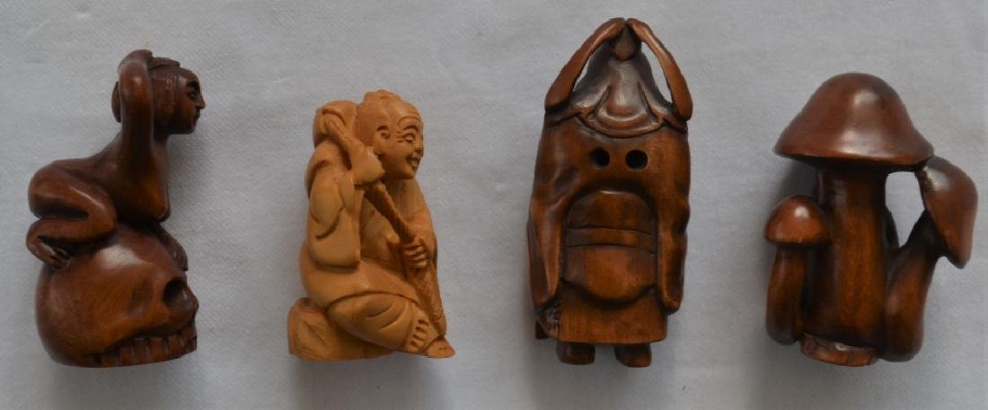 Lot of 14 Japanese Carved Figures - 2