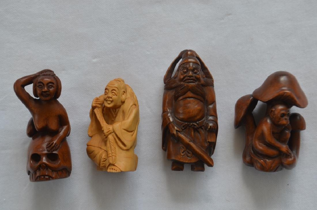 Lot of 14 Japanese Carved Figures - 3