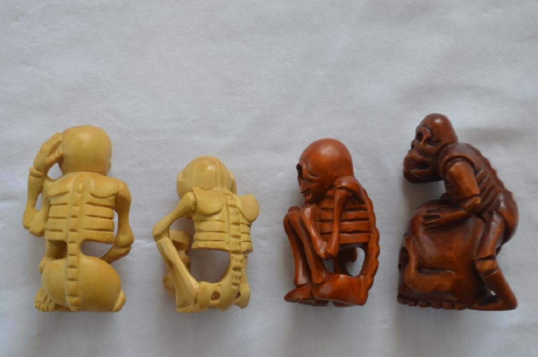 Lot of 14 Japanese Carved Figures - 5