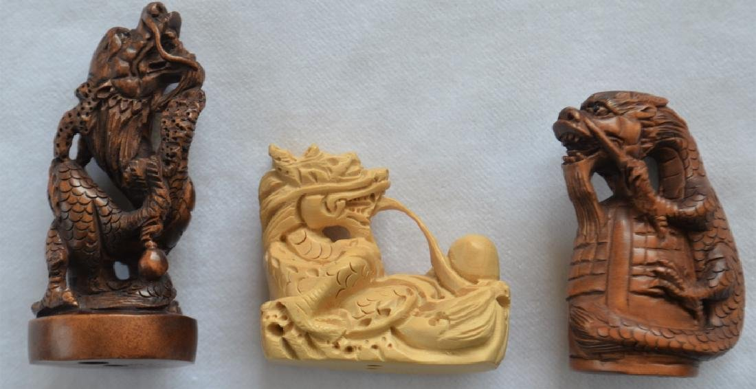 Lot of 14 Japanese Carved Figures - 6