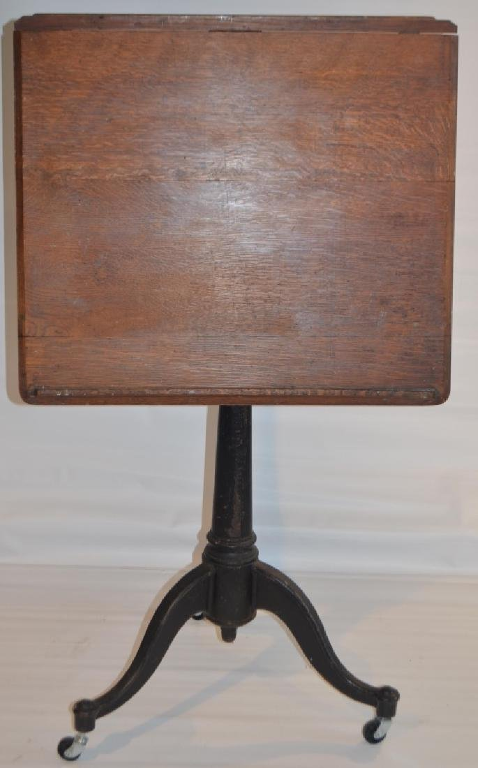 Drafting Table with Cast Iron Stand - 5