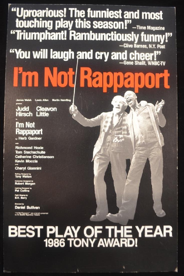 Original Broadway Theater Posters Im Not Rappaport