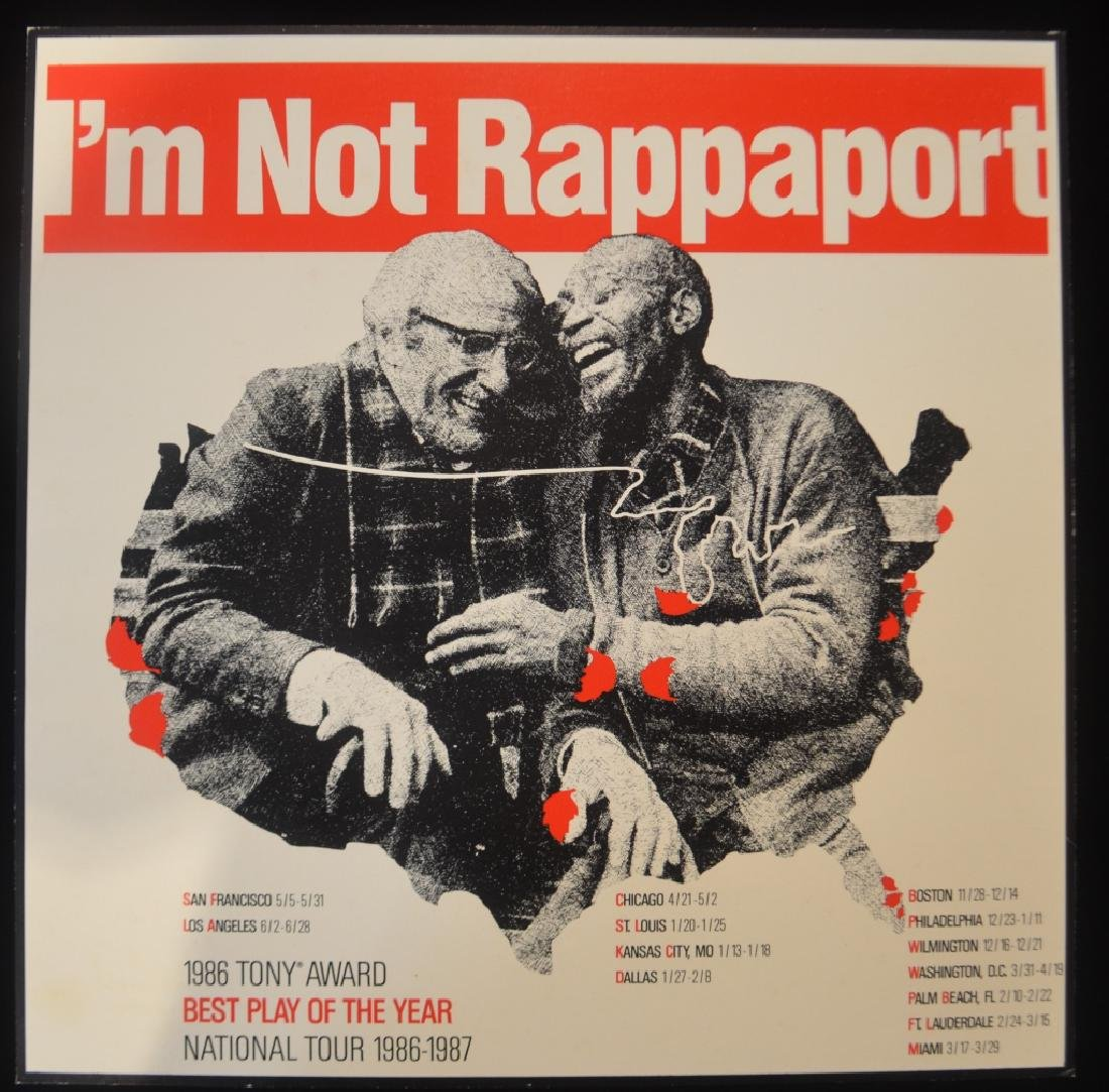 Original Broadway Theater Posters Im Not Rappaport - 4