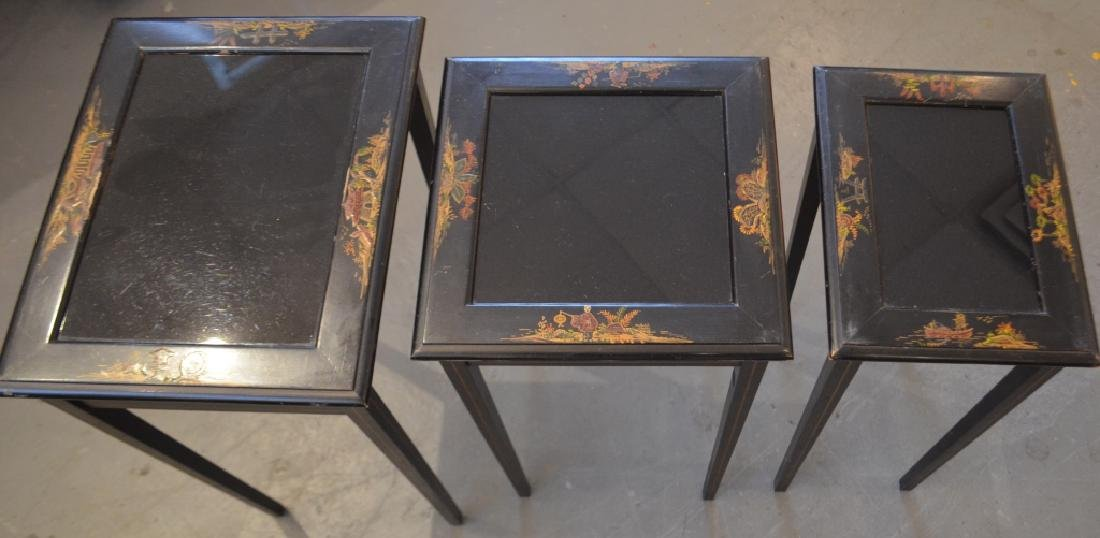 Glass Top Nesting Tables - 2