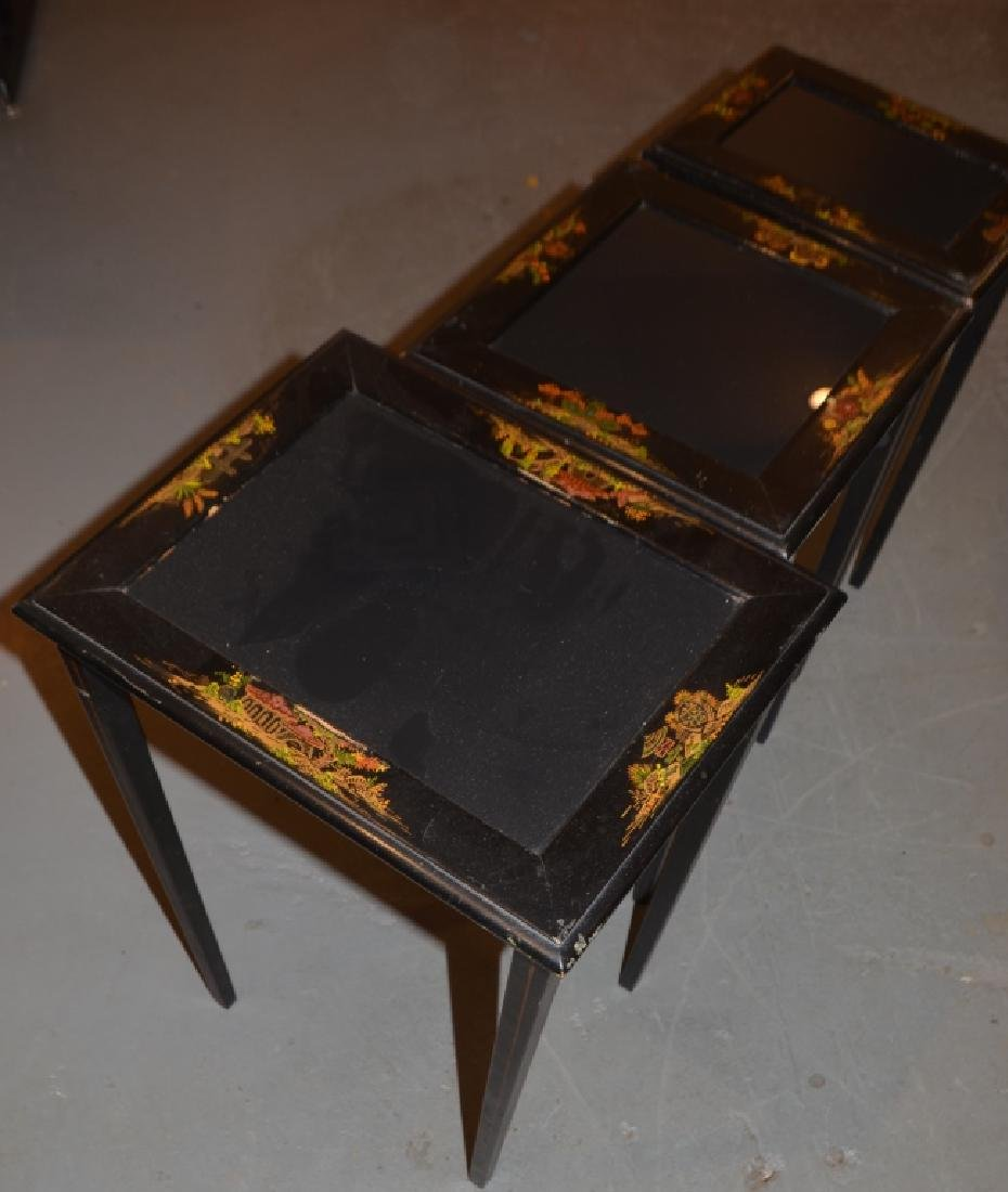 Glass Top Nesting Tables - 3