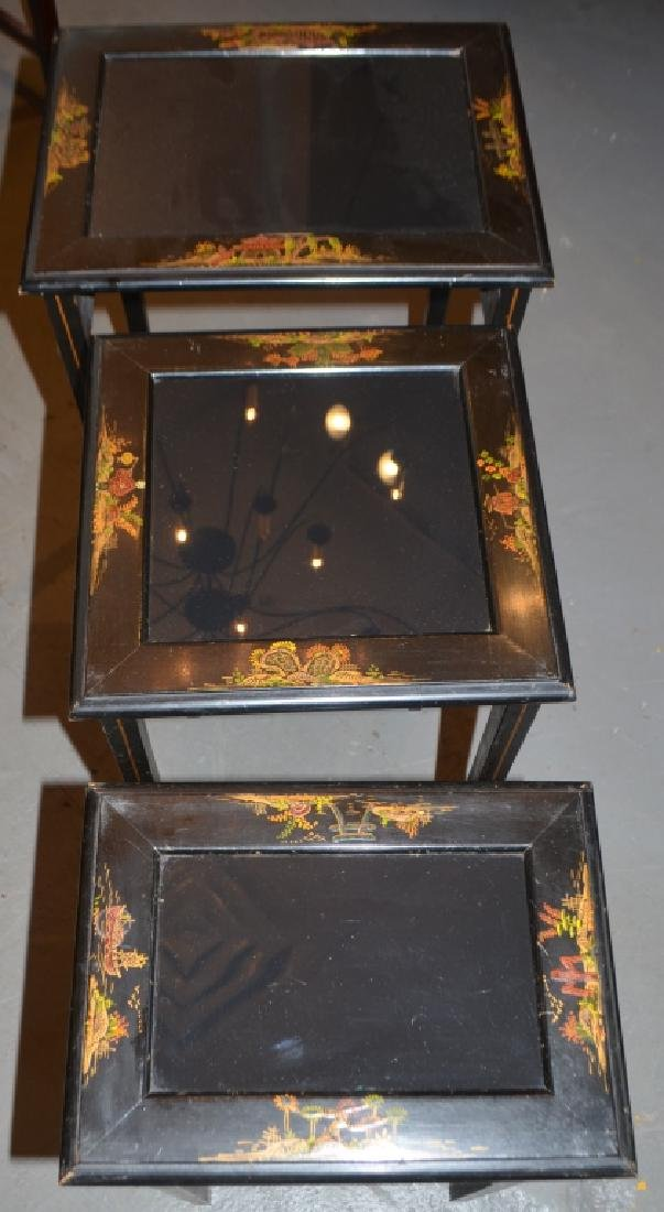 Glass Top Nesting Tables - 5