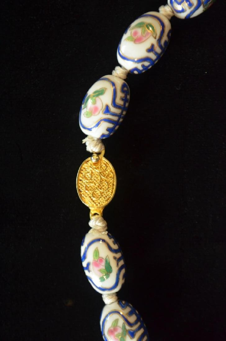 Chinese Porcelain Necklace - 4