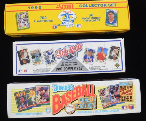 Donruss Score and Upper Deck Baseball Card Sets - Nov 27
