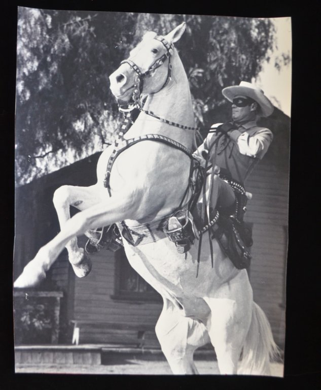 Lot of Two Clayton Moore The Lone Ranger Photo Prints